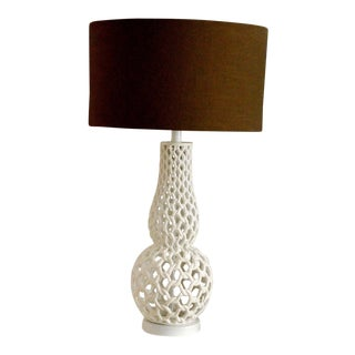 White Chain Link Table Lamp