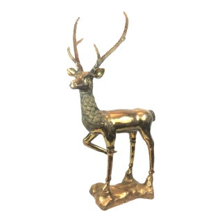 Sarreid Spain Brass Deer Sculpture