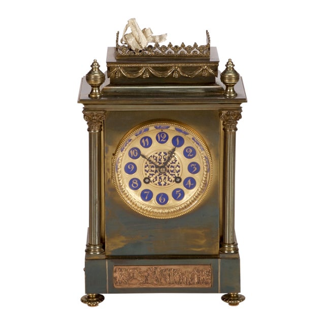 19th Century French Gilt Brass 8 Day Mantel Clock - Image 1 of 6