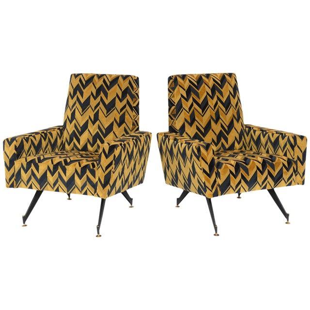 Original Pair of Lounge Chairs by Osvaldo Borsani - Image 1 of 6