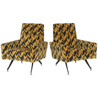 Original Pair of Lounge Chairs by Osvaldo Borsani