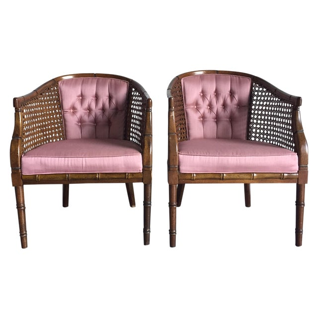 Hollywood Regency Vintage Chairs - a Pair - Image 1 of 8