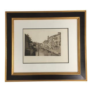19th Century Ferdinando Ongania Sepia Printed Photograph