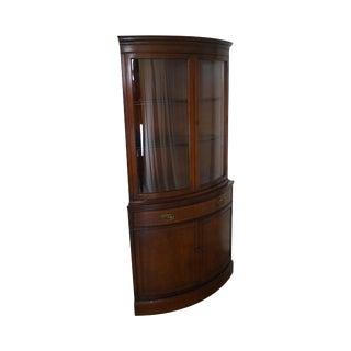 Bassett 1940s Vintage Mahogany Corner Cabinet