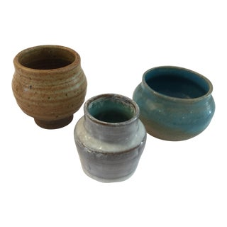 Mid-Century Pottery Vases - Set of 3