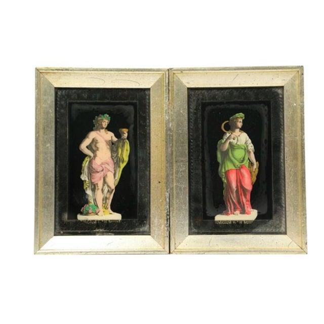 Hollywood Regency Frammed Romans - Pair - Image 1 of 3