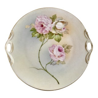 Antique Austrian Porcelain Plate, Signed Duran