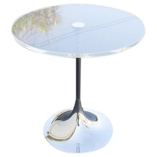 Lucite Tulip Side Table