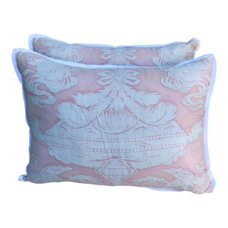 Fortuny Light Pink & White Pillows - A Pair