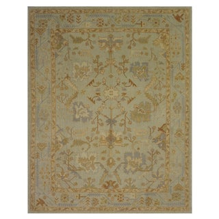 Turkish Oushak Rug - 9′7″ × 11′1″