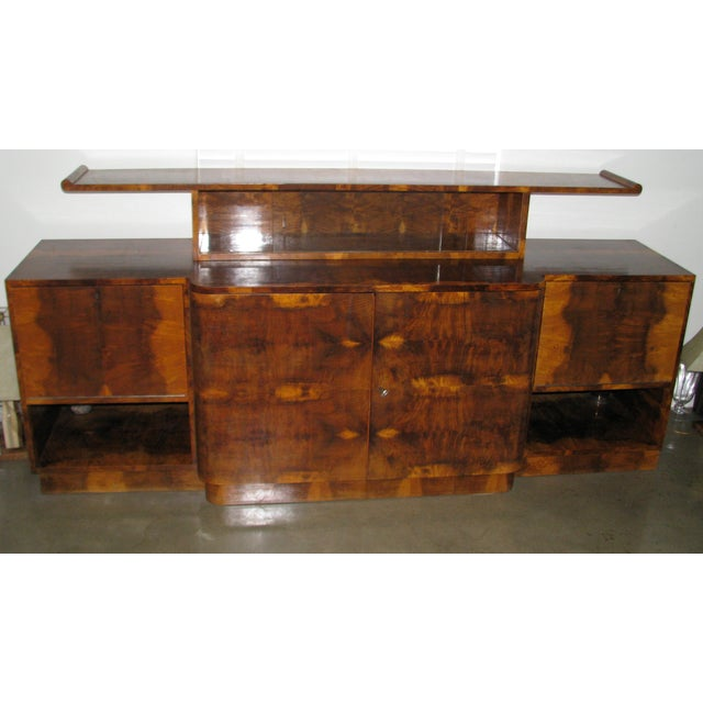 French Art Deco 2-Tiered Paldao Burlwood Sideboard - Image 2 of 11