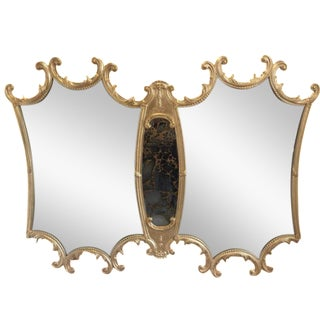 Hollywood Regency Vintage Gold Mirror
