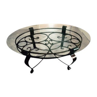 Glass & Iron Cocktail Table