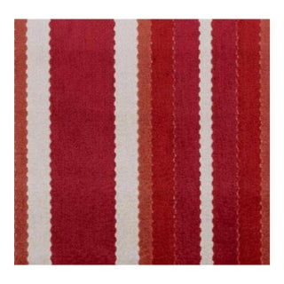Duralee Hunterdon Red & Clay Stripe Fabric - 1 Yard