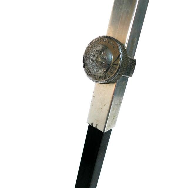 Aluminum & Wood Tripod Floor Lamp - Image 5 of 6