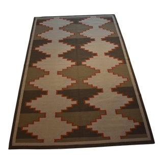 Bazaaro Geometric Handmade Wool Rug - 5' x 8'