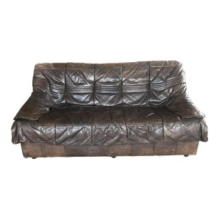DeSede Brown Leather Loveseat