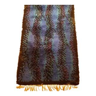 """Handmade Swedish Rya Carpet - 3'5' X 4'4"""""""