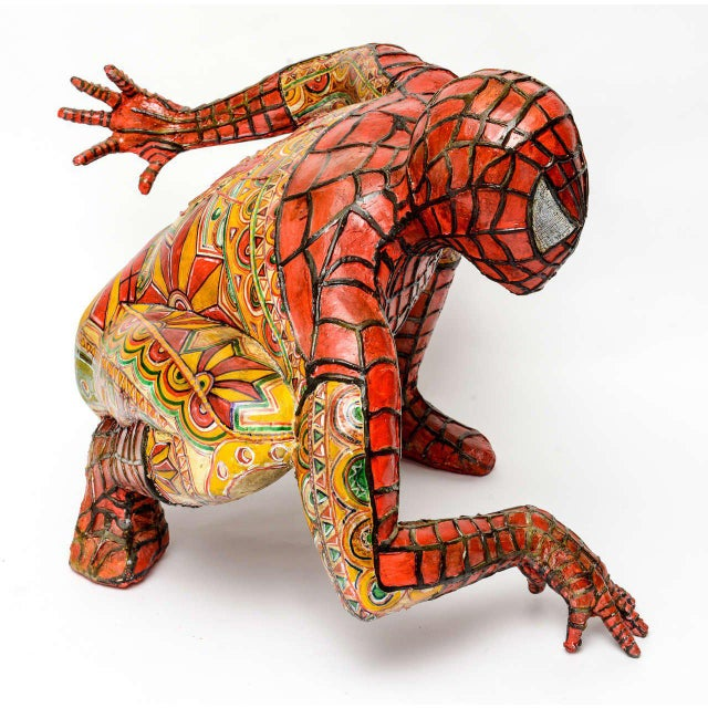 Domenico Pellegrino Spiderman Sculpture - Image 7 of 10