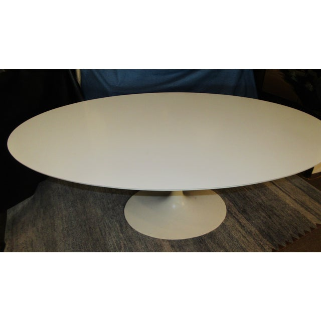 Authentic VIntage Knoll Saarinen Oval Tulip Base Dining Table - Image 4 of 7