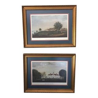 Edward Savage Mount Vernon Framed Prints - A Pair