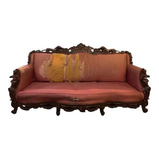 Antique Baroque Style Highly Carved Sofa