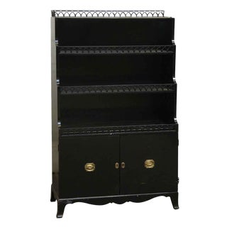 Black Wood Cabinet with 2 Bottom Doors
