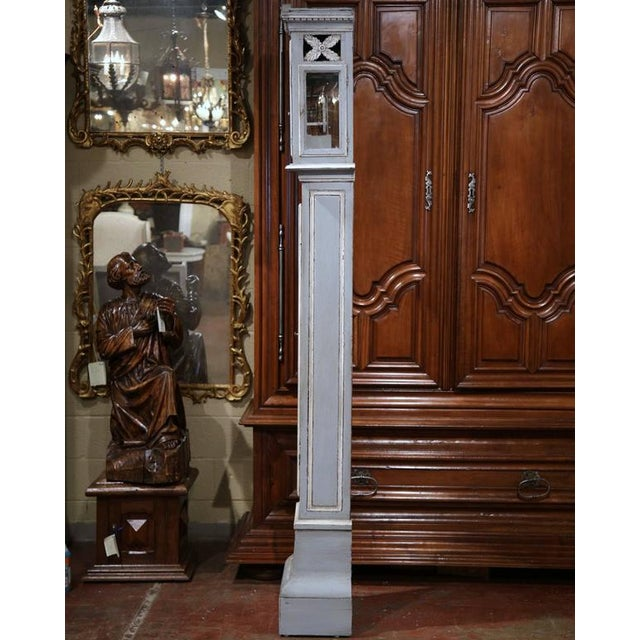 Late 18th Century French Carved Painted Grandfather Clock - Image 9 of 9