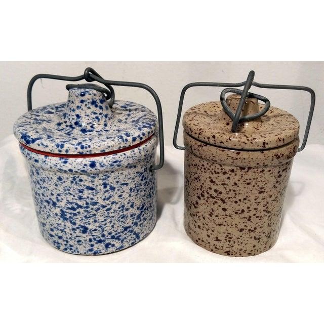 Vintage Latch Top Crock Jars- Set of 6 - Image 4 of 5