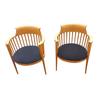 Mid-Century Danish Modern Style Cherry Wood Chairs- A Pair