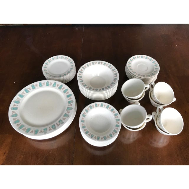 Metlox Poppytrail Navajo Mid-Century China - 48 Pieces - Image 2 of 7
