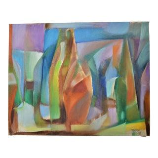 1963 Arnholm Cubist Oil Painting
