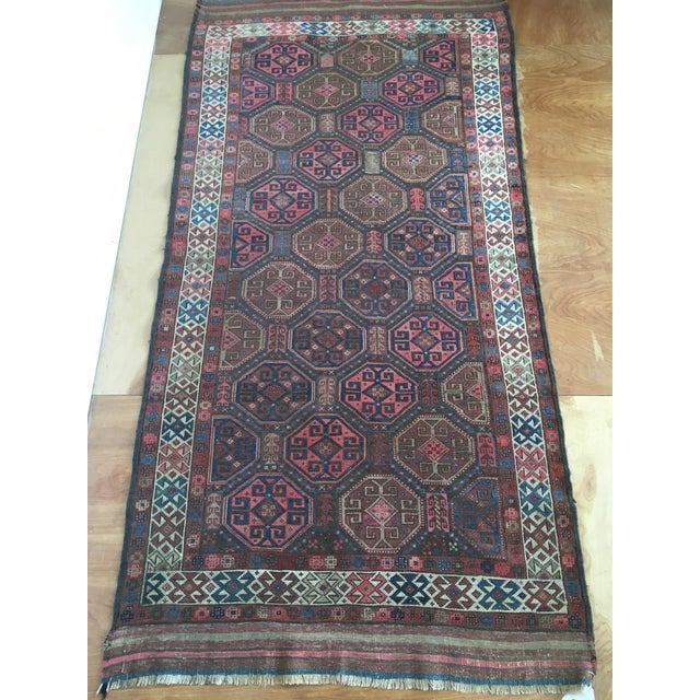 "Antique Tribal Rug 6'10"" X 3'5"" - Image 2 of 8"
