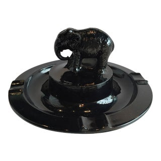 Black Amethyst Elephant Ashtray