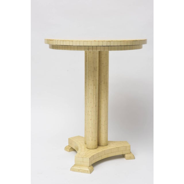 Image of Neoclassical Tessellated Bone Side Table