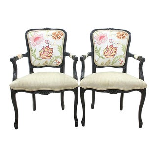 Louis XV Style Caymen Fauteuils - A Pair