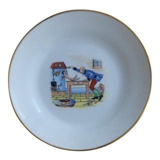 Ginori Italian Porcelain Character Plate