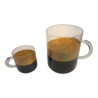 Pop Art Andy Warhol Style Lucite Espresso Cups - A Pair