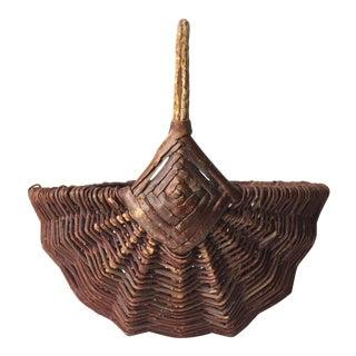 Antique Twig Gathering / Egg Basket