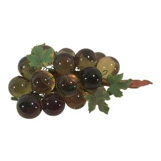 Green Mid-Century Lucite Grape Bunch