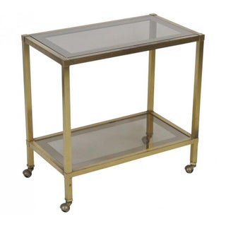 Italian Modern Brass & Glass Bar Cart