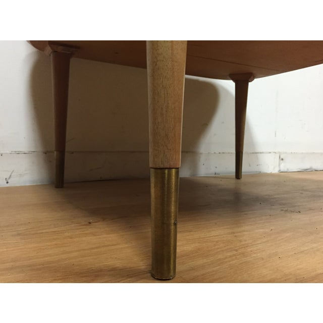 Bleached Mahogany Two Tiered Corner Table - Image 7 of 10