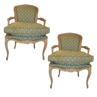 Rarly 19th C. Painted French Fauteuils - A Pair