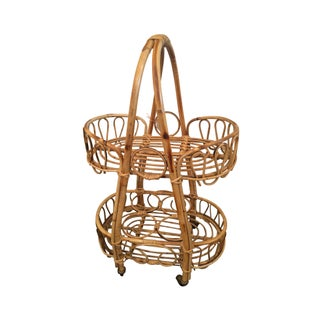 Small Bamboo Bar Cart