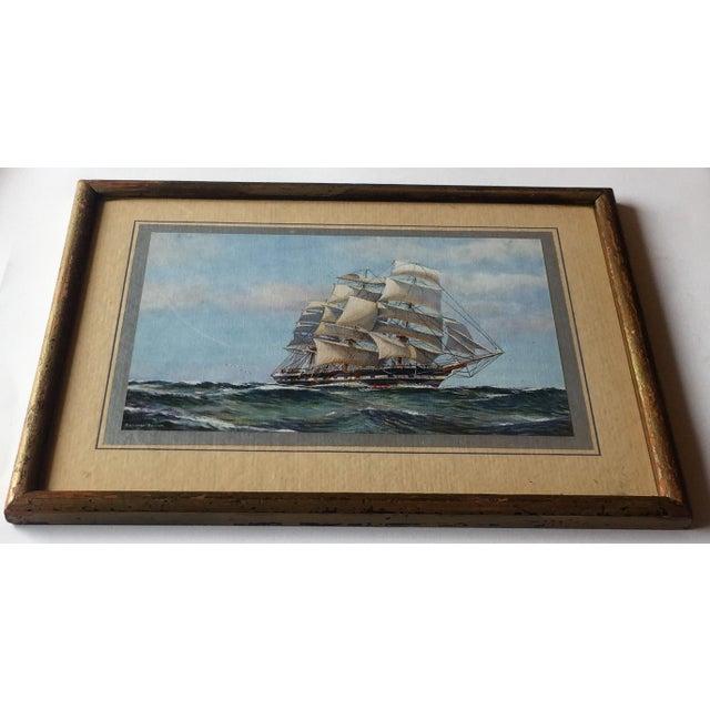 Framed Ship Print - Image 4 of 7