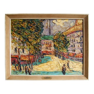 Paris Boulevard Saint-Michel Oil Painting by Preben Rasmussen