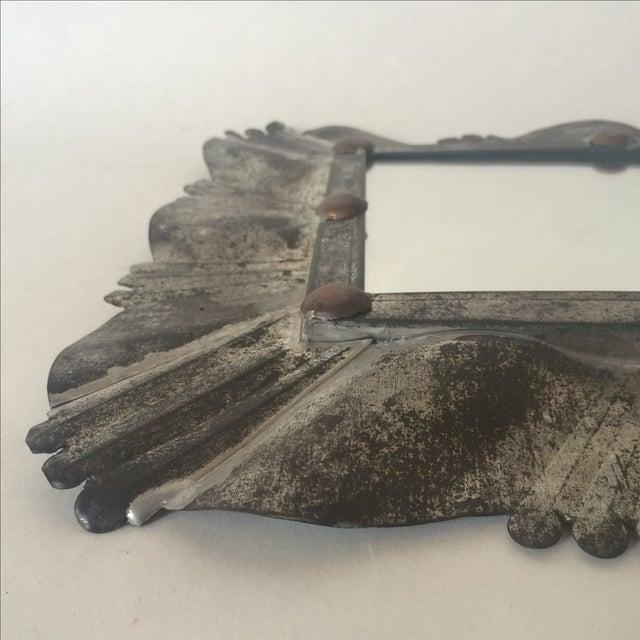 Vintage Tin & Copper Mirror - Image 8 of 11