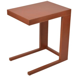 Serge De Troyer Leather-Clad Accent Table