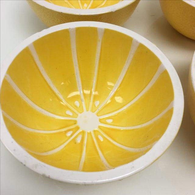 Vintage Yellow Grapefruit Bowls - Set of 4 - Image 3 of 10