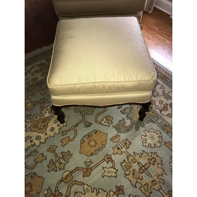 Century Furniture Chair & Ottoman With Floral Pillow - a Pair - Image 4 of 10